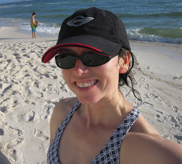 on the beach selfie