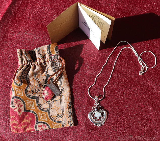 moonstone and garnet pendant