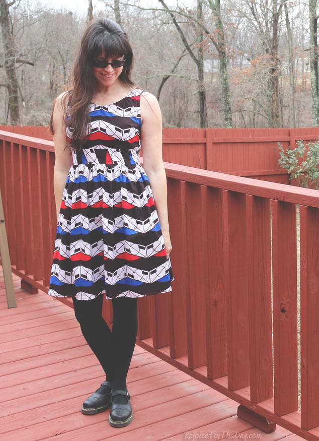 retro style dress pattern