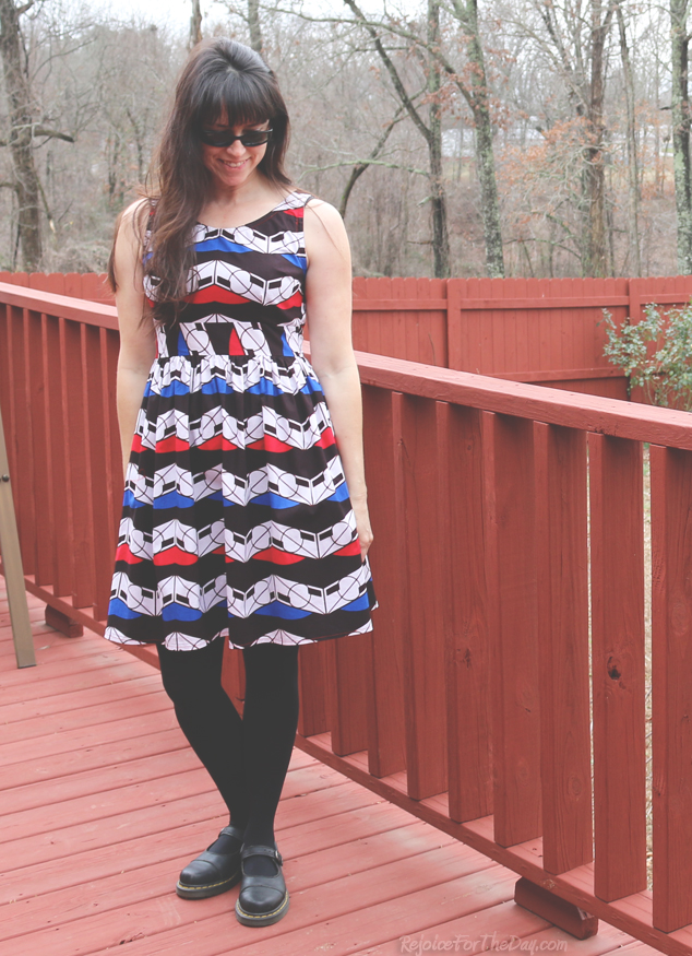 retro style dress pattern