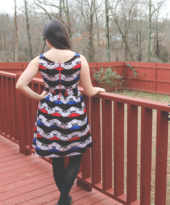 handmade dress with exposed zipper