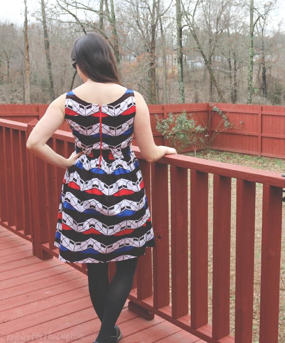 handmade dress with exposed zipper