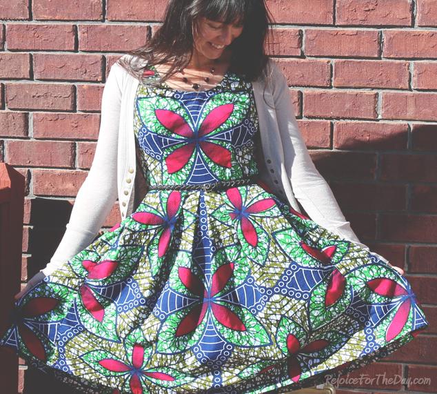 The Kaleidoscope Dress full skirt