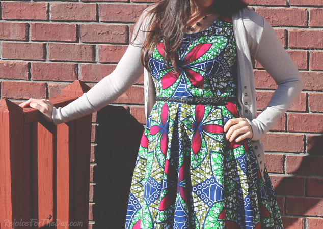 fit and flare homemade dress