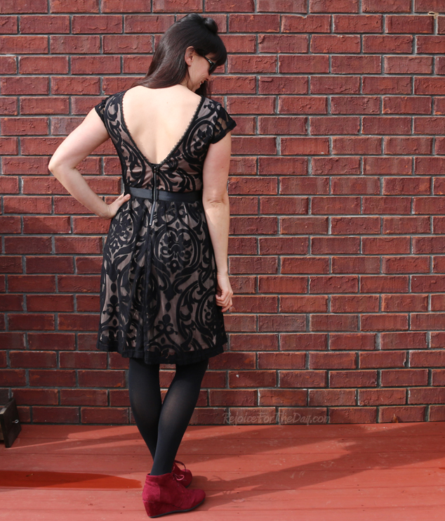 Floating on Aria Dress back view