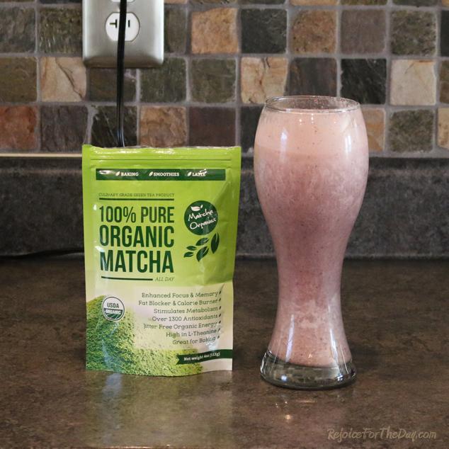 Matcha Organics smoothie
