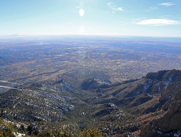 overlooking Albuquerque