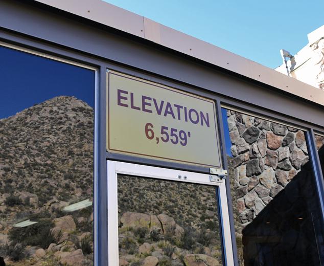 sandia base elevation