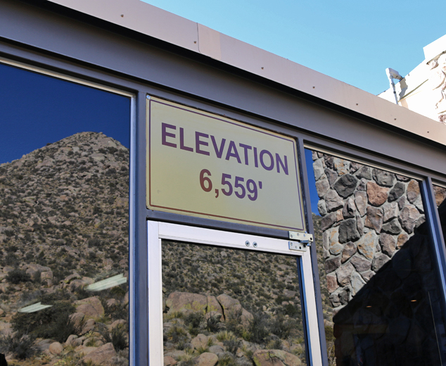sandia base elevation