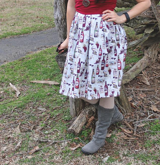 Time for Wine Skirt