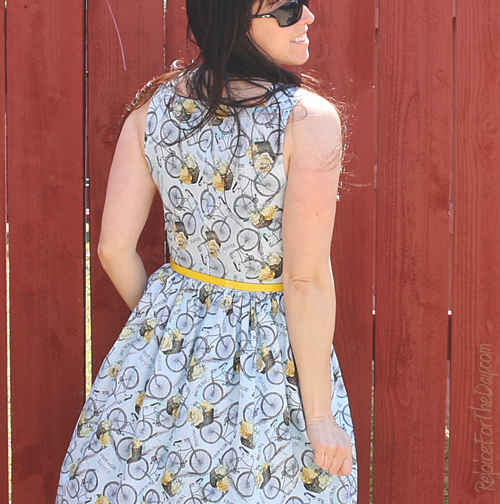 The Floral Bicycle dress back view