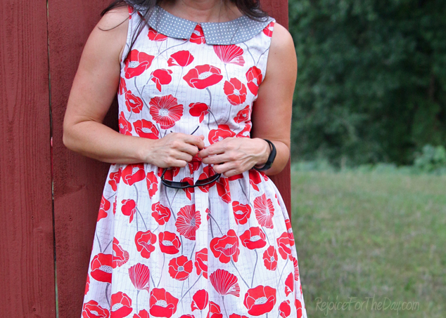 the Vintage Poppy Emery dress with collar